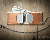 Leather Chain Wallet, Mens leather chain wallet, chain wallet, mens chain wallet, Traditional 015_CH