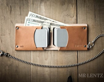 Leather Chain Wallet, Mens leather chain wallet, chain wallet, mens chain wallet, Traditional 015_CH