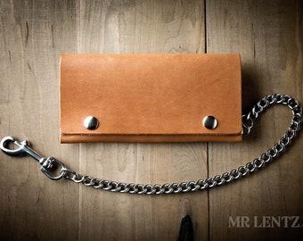 Leather Trucker Wallet, Mens Trucker wallet, Long Wallet, Bill Wallet 018