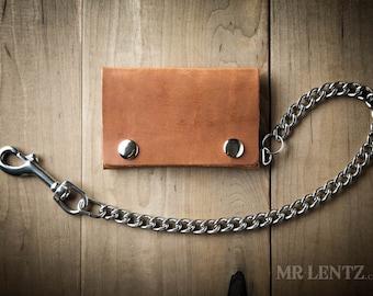 Biker Wallet, Snap Wallet, Leather Wallet, Chain Wallet, Mens wallet 014