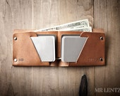 Mens Wallet, Mens Leather Wallet, Minimal Leather Wallet, Thin leather wallet, Leather Bifold 013