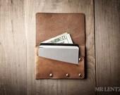 Leather Card Wallet, simple card wallet, men's wallet, thin card wallet, simple leather flap wallet  021