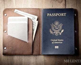 Passport Wallet, Leather Passport Wallet, travel wallet, passport case, leather passport holder, document wallet 040