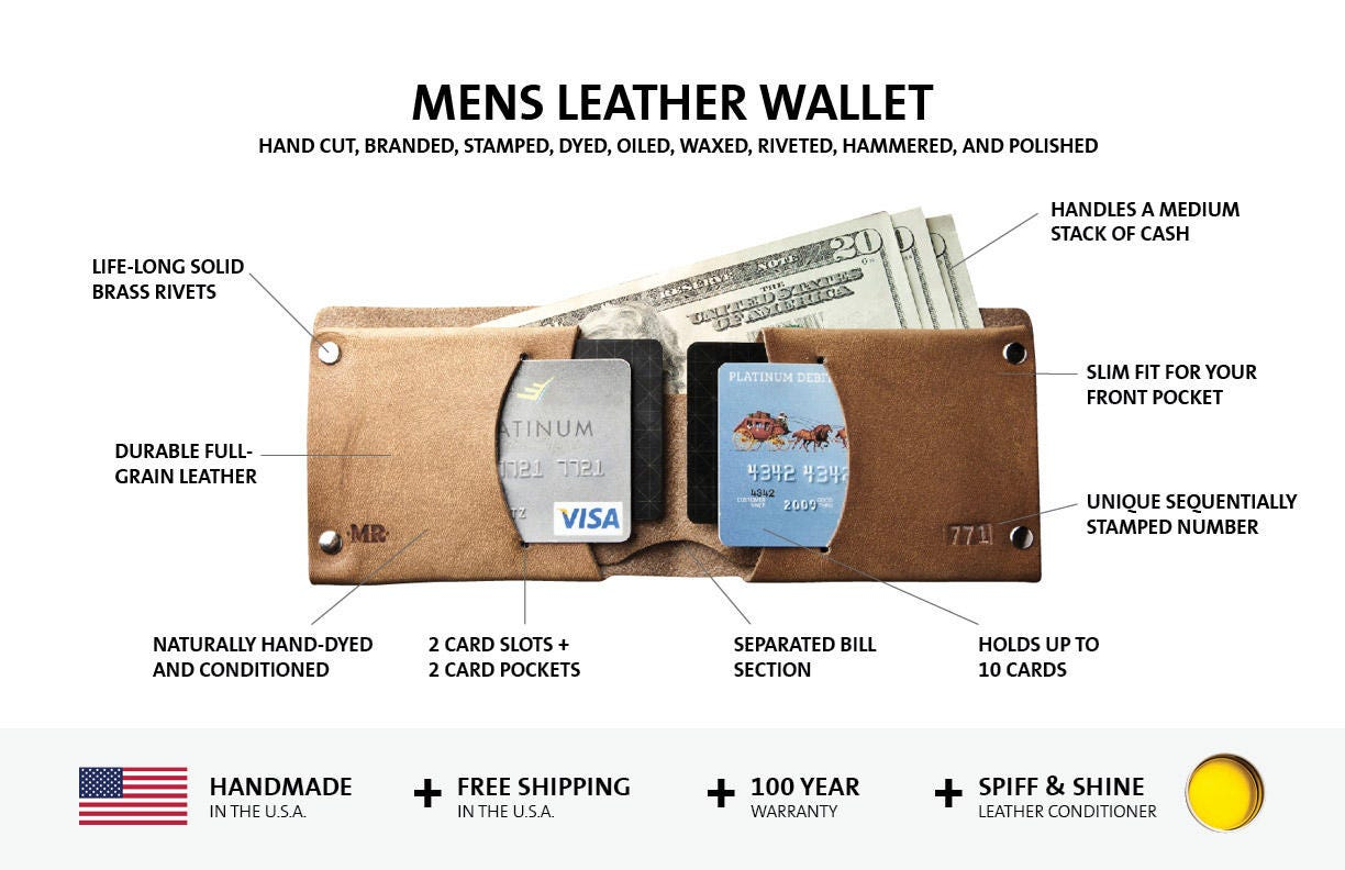 Mens Wallet, Mens leather wallet, Handmade Wallet, Leather Wallet, thin leather wallet, mens wallets, Traditional 015