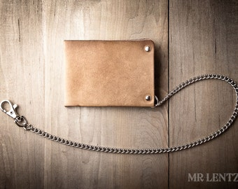 Leather Chain Wallet, Mens Leather Chain Wallet, Minimal Chain Wallet, Handmade wallet 012_CH
