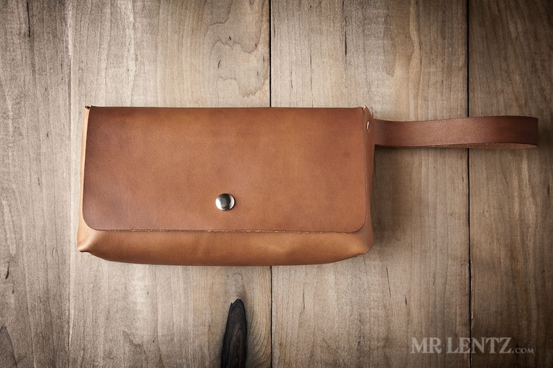 Leather Clutch leather purse brown leather clutch simple image 0