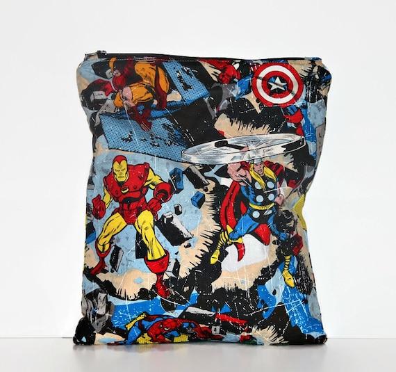 Super-héros moyen humide, chiffon humide sac à couches, sac imperméable à l'eau réutilisable, sac de plage, piscine sac, sac Floral
