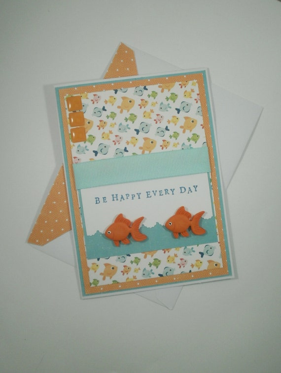 Blank Card, All Occasion Card, Thinking of You Card, Fish Card, Be Happy Card, Fish, All Occasion, Hello Card, Kids Card, Thinking of You
