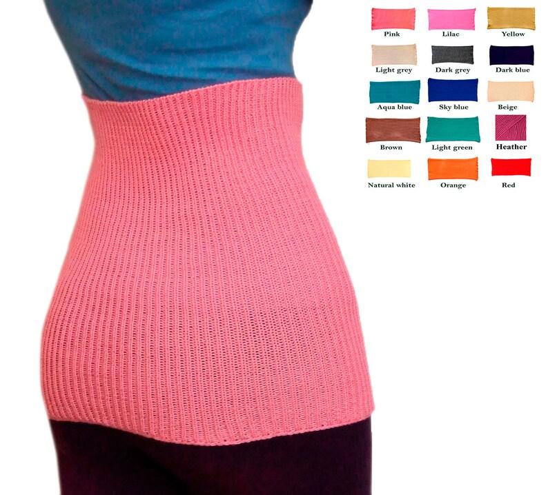 Tummy band 100% MERINO WOOL belly kidney waist warmer pregnant image 0