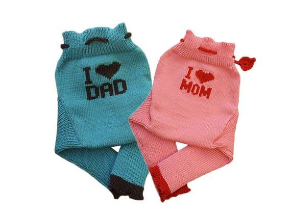 e92d37057 Soaker S M L I love MOM DAD 100% merino wool diaper