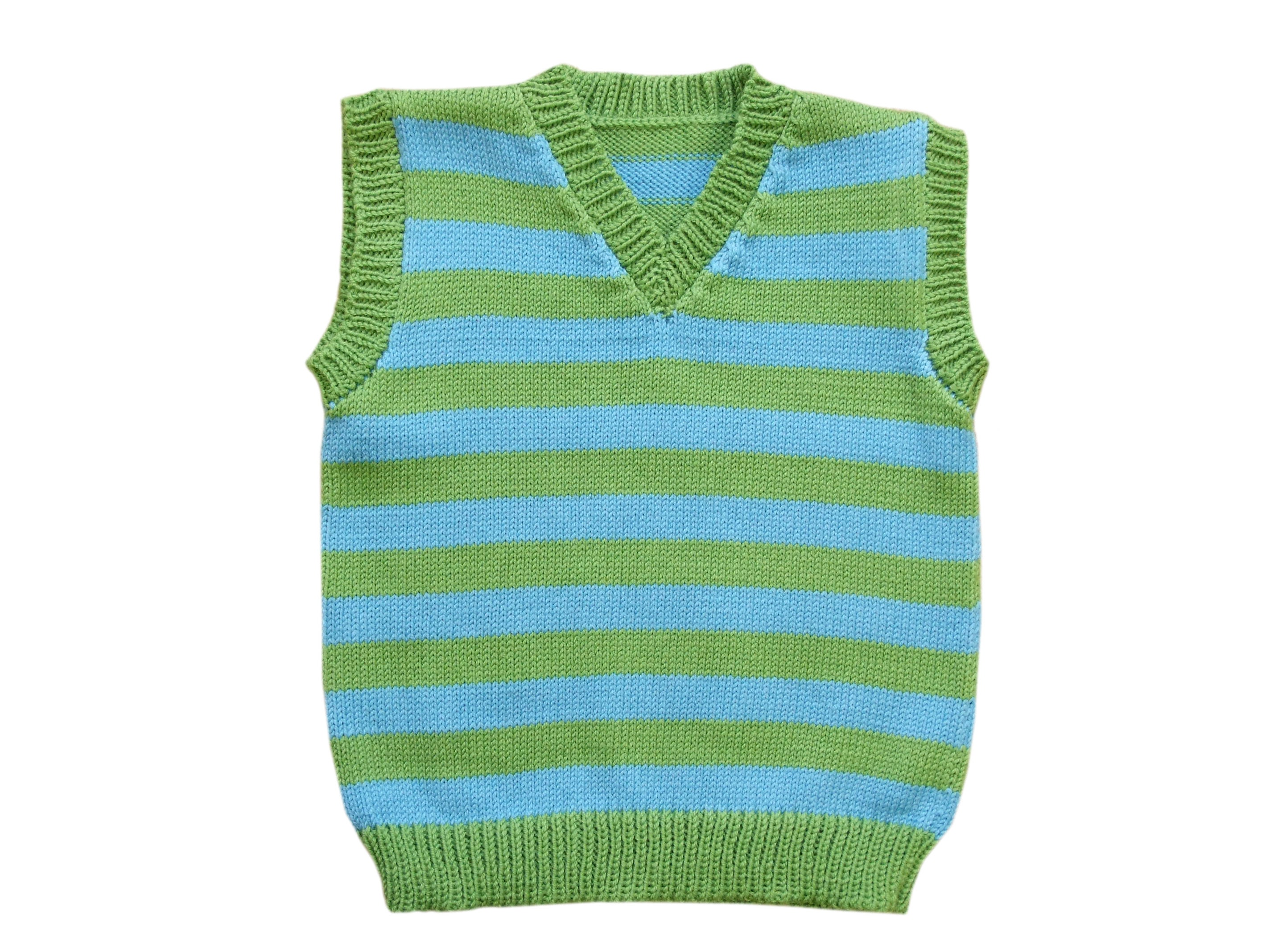 0b8ed1c73 SALE Vest 6-12 months 100% merino wool striped baby kid