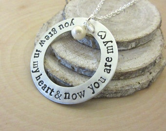Adoption Jewelry, Mother's Day Gift, Adoption Necklace, Gotcha Day, Personalized Jewelry, Mothers Necklace, Gift for Mother, Adoption Gift