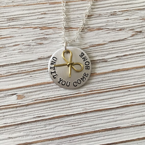 Deployment Necklace, Deployed Jewelry, Military Spouse Girlfriend, Hand  Stamped, Until You Come Home, Going Away Gift, Long Distance Gifts