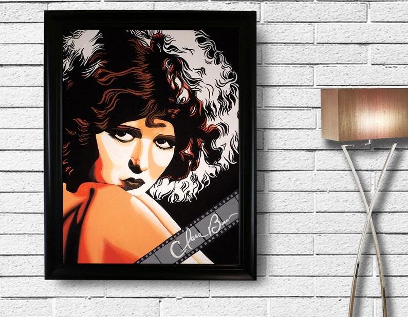 Vintage Decor Roaring Twenties Pop Portrait Art Print Poster 1 of 3 in Collectible Series Clara Bow 1920/'s Silent Movie Mavens Actress
