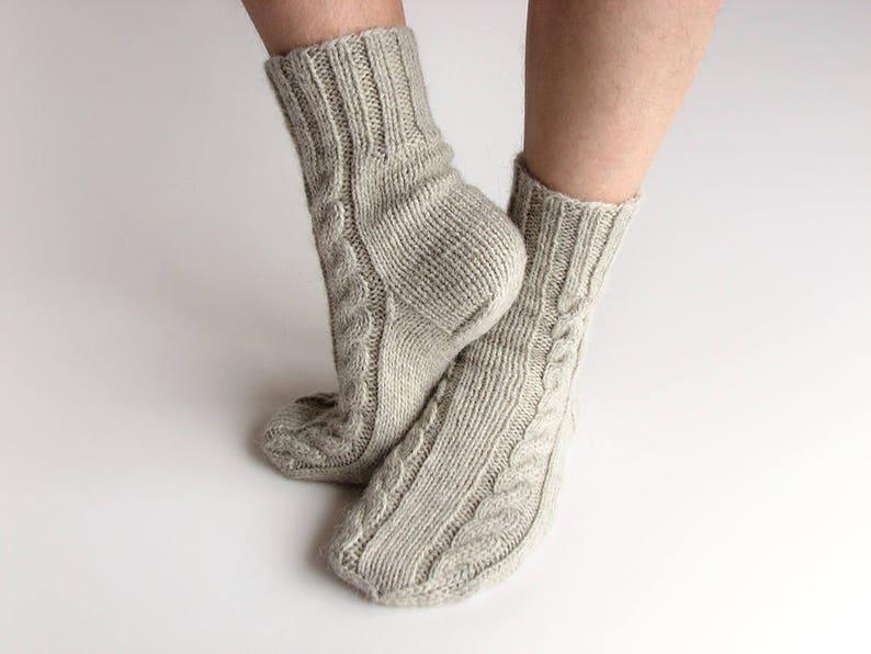 7ea17547306 Men cable knitted socks Anniversary gift for boyfriend Organic