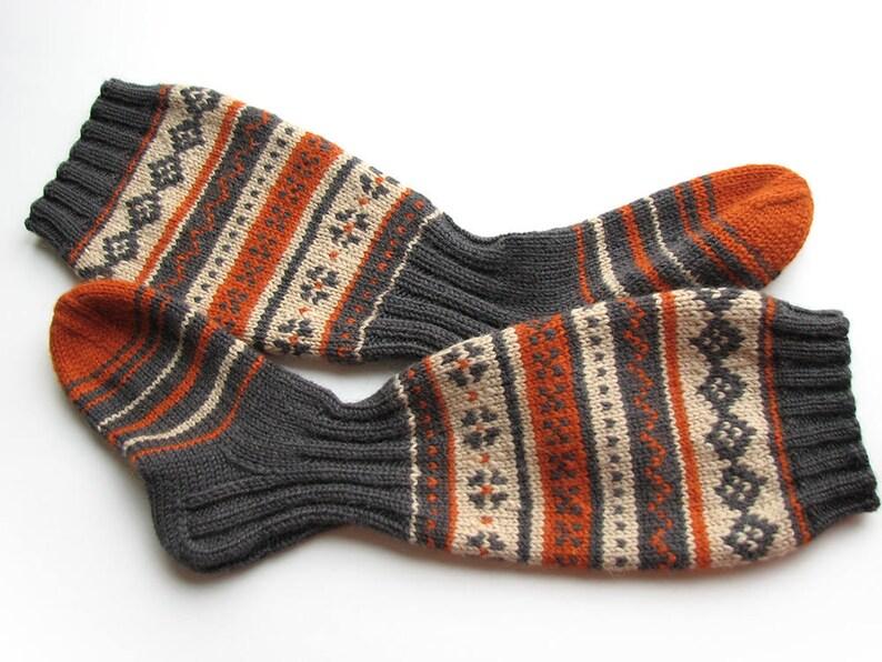 92b955ca733 Fair Isle knee high socks Cozy gift for her women girlfriend