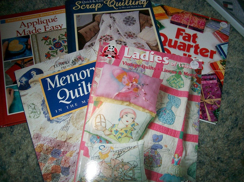 Quilt books your choice ladies of leisure memory quilts etsy