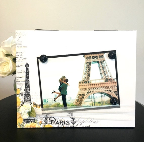 Paris Picture Frame Magnetic Gift Home Decor Photo 5 X 7 9 X Etsy