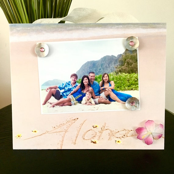 Aloha Hawaii Pink Plumeria Magnetic Picture Frame Handmade | Etsy