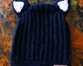 Cat ears slouchy hat