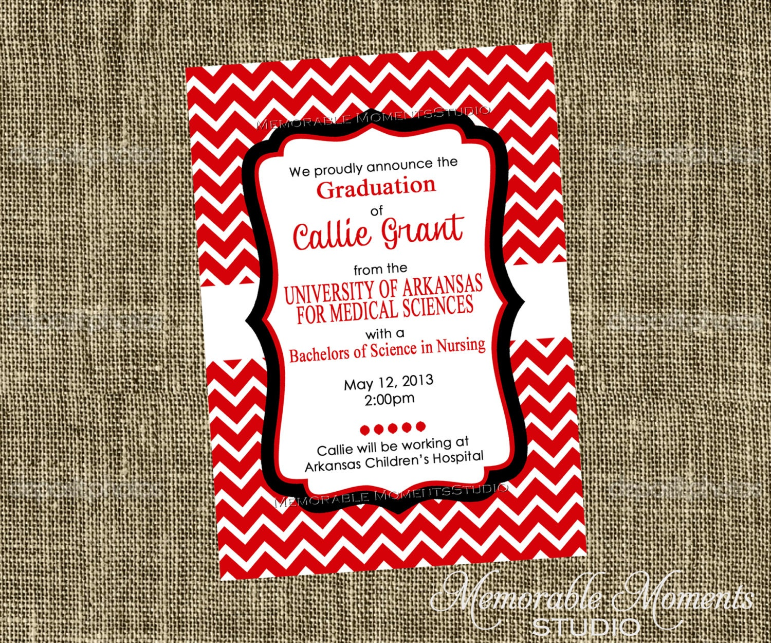 PRINTABLE INVITATIONS Red White and Black Chevron Party | Etsy