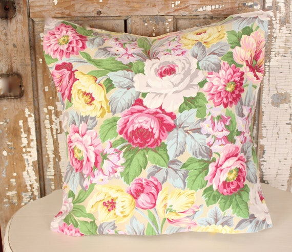Spring Floral Accent Pillow