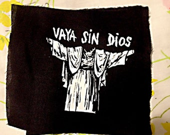 vaya SIN dios PATCH take that statues of JC everywhere