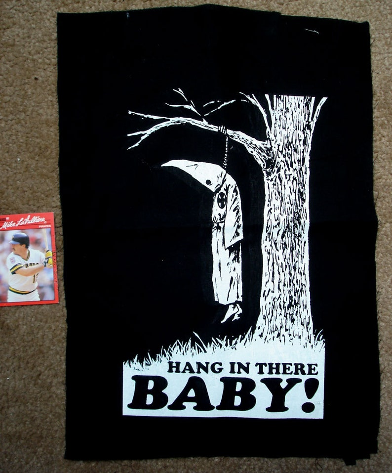 23f0502a Hang in there baby ANTI KKK anti racism BACKPATCH meaning its   Etsy
