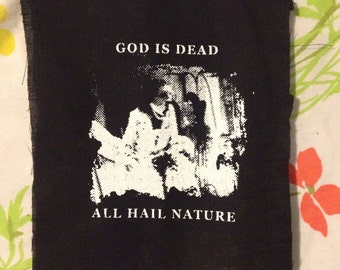 BEGOTTN HORROR PATCH easily the most unpopular item on etsy God Is Dead All Hail Nature