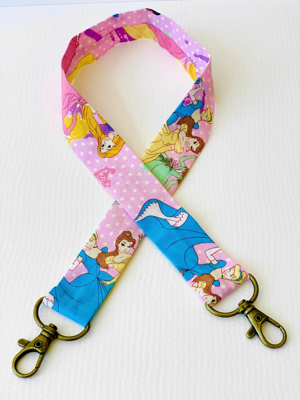 Disney Princess Face Mask Chain Lanyard Beaded Cinderella Inspired Adult Mask Holder Disney