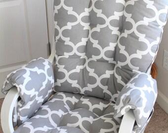 Glider Cushions/Rocker Cushions/ Rocking Chair Cushions/ Glider Rocker  Cushions WITH ARM REST Covers