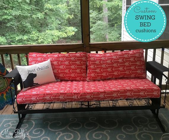 Custom Cushions Swing Bed Cushions Swing Cushions Outdoor Etsy