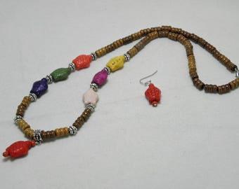 Sea Turtles on Wood Necklace Set