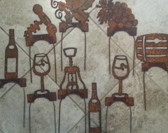 Lawn Games Yard Games - Wine - Custom Croquet Wickets - Metal Garden Art - Plasma cut by hand - Croquet - Outdoor Games - Gift