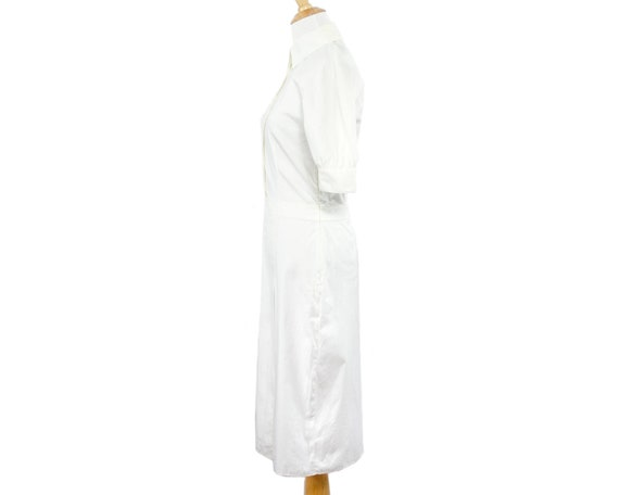 Prada Lightweight White Cotton Nurse Shirtdress w… - image 3