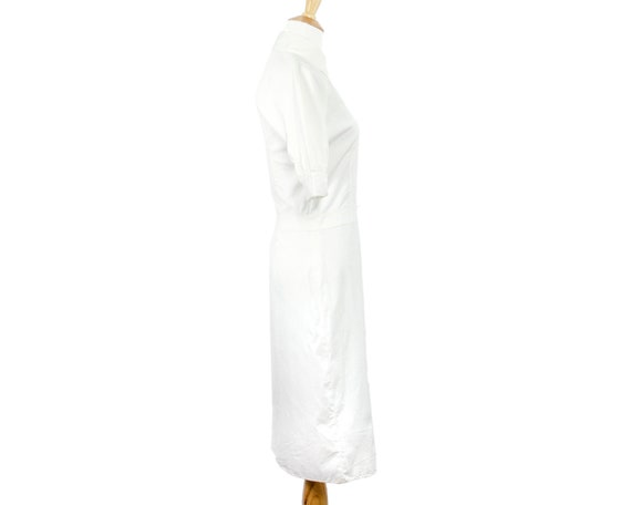 Prada Lightweight White Cotton Nurse Shirtdress w… - image 2