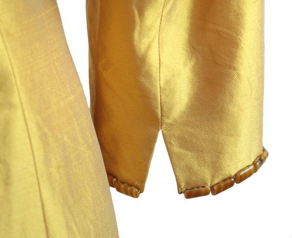 Lela Rose Marigold Silk Embellished Coat Dress - image 6