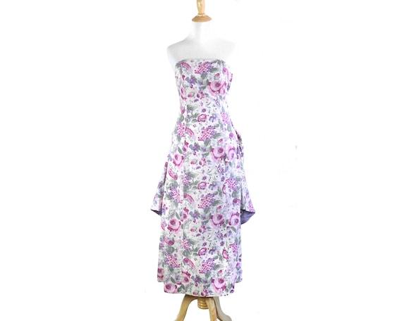 Vintage Laura Ashley Floral Print Party Dress