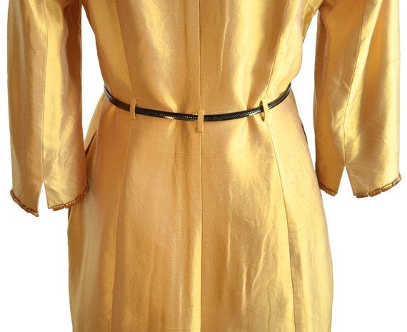 Lela Rose Marigold Silk Embellished Coat Dress - image 5