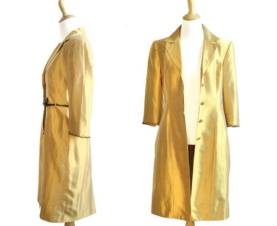 Lela Rose Marigold Silk Embellished Coat Dress - image 4