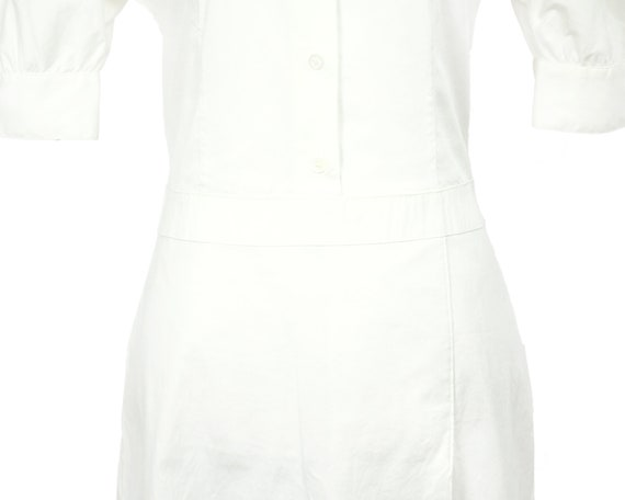 Prada Lightweight White Cotton Nurse Shirtdress w… - image 6