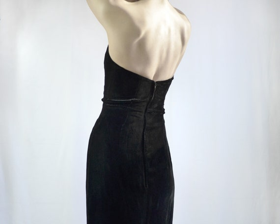 80s does 50s Black Velvet Cocktail Dress