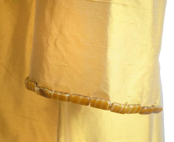 Lela Rose Marigold Silk Embellished Coat Dress - image 7