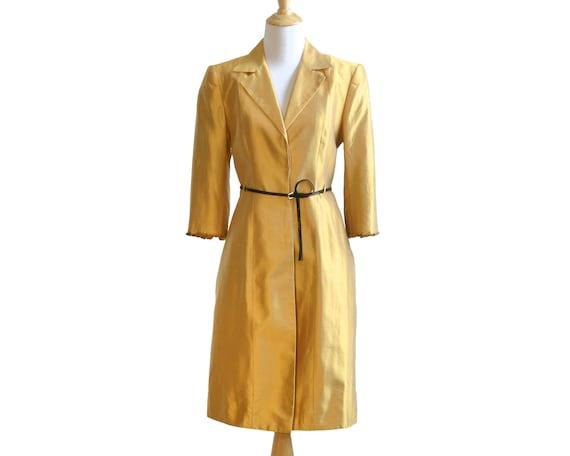 Lela Rose Marigold Silk Embellished Coat Dress - image 1