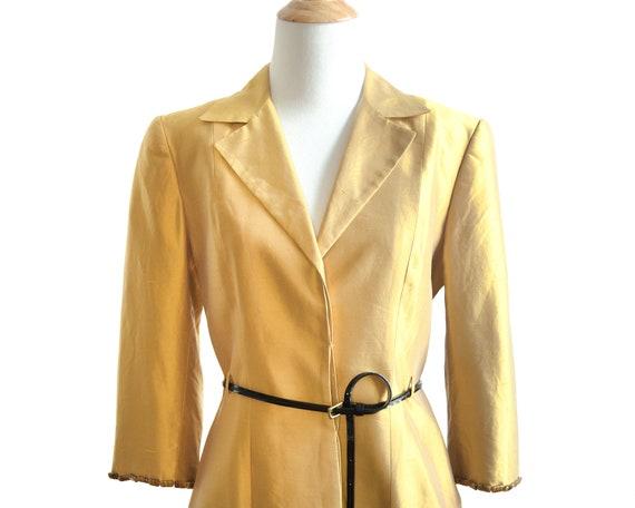 Lela Rose Marigold Silk Embellished Coat Dress - image 2