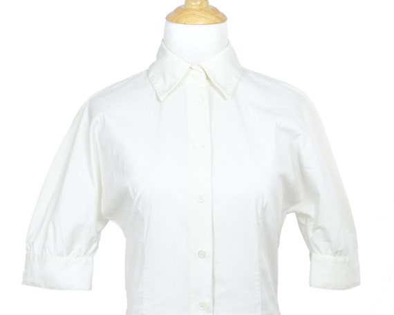 Prada Lightweight White Cotton Nurse Shirtdress w… - image 5