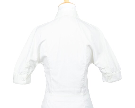 Prada Lightweight White Cotton Nurse Shirtdress w… - image 7