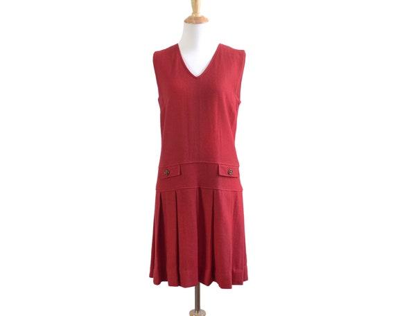 60s Bobbie Brooks Mod Mini Red Tennis Dress