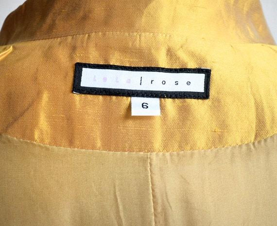 Lela Rose Marigold Silk Embellished Coat Dress - image 9