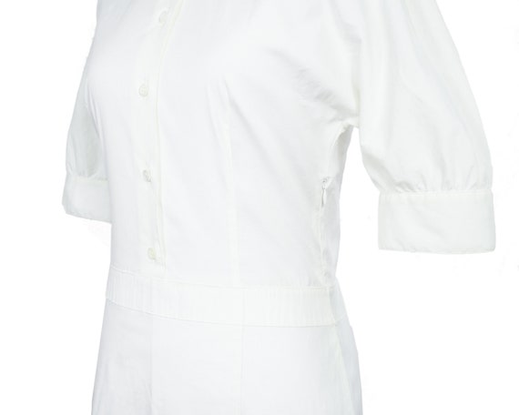Prada Lightweight White Cotton Nurse Shirtdress w… - image 9